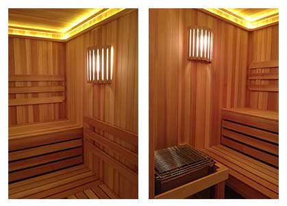 Custom Cut Sauna - 2 Views