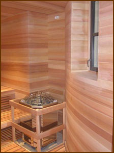 Custom Built Cedar Sauna with gorgeous curves
