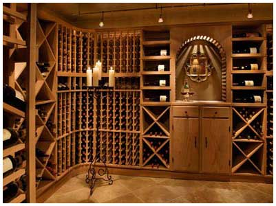 Custom wine racks/wine room