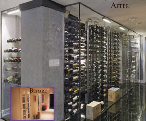 Custom Wine Room: Before & After